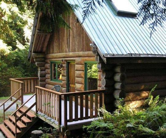 Vacation Rental Victoria British Columbia Canada Log